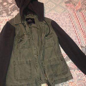 American Eagle Green Hooded Jacket